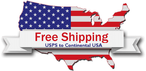 Free shipping throughout USA